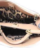 Dolce and Gabbana White and Black Leather Handbag 7