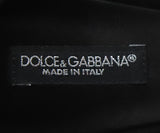 Dolce & Gabbana Black Lace Slingback Kitten Heel with Rhinestone Bow 5