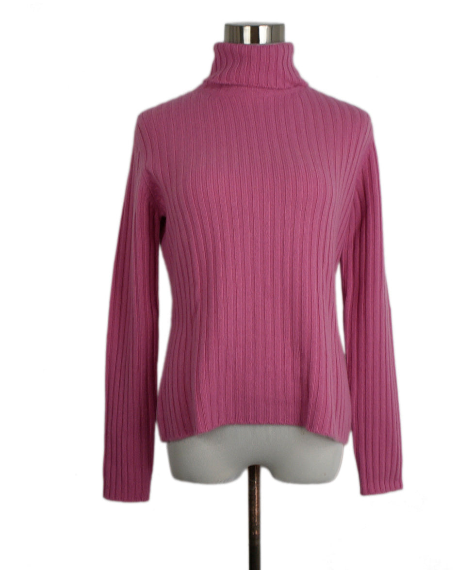 Domenico Vacca Pink Cashmere Turtleneck Sweater 1