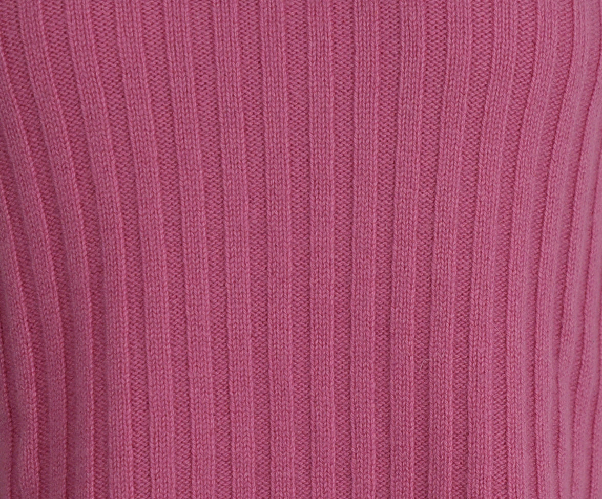 Domenico Vacca Pink Cashmere Turtleneck Sweater 5