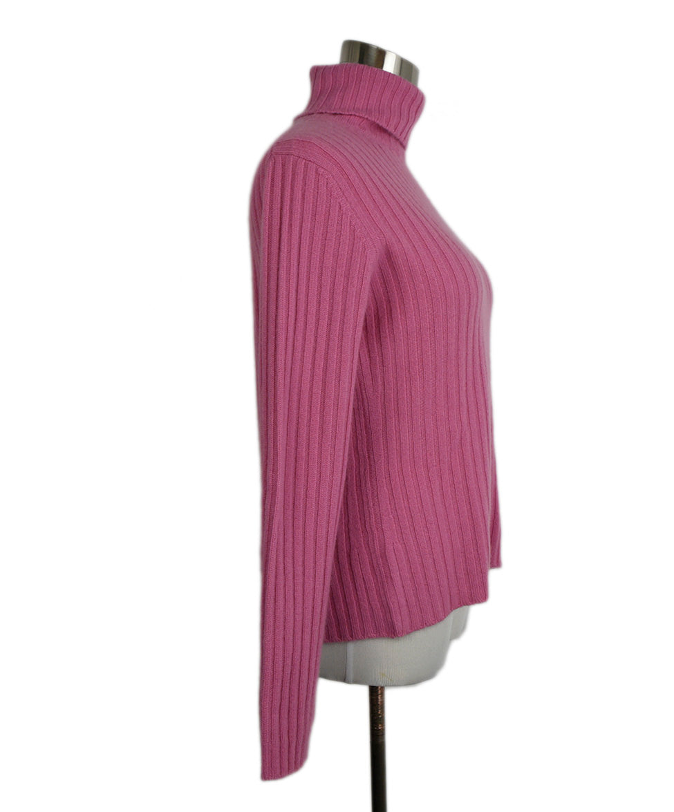 Domenico Vacca Pink Cashmere Turtleneck Sweater 2