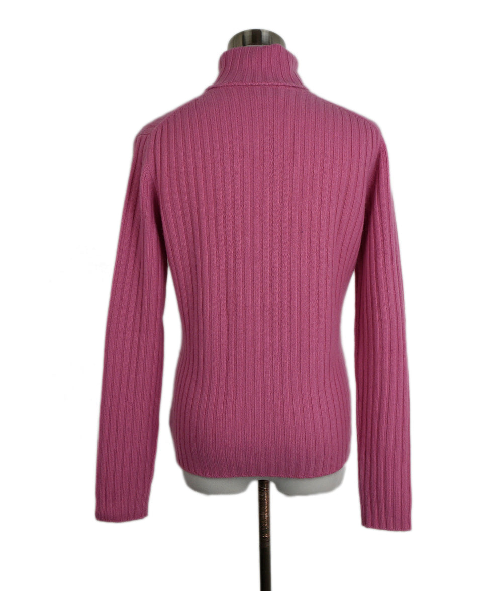 Domenico Vacca Pink Cashmere Turtleneck Sweater 3
