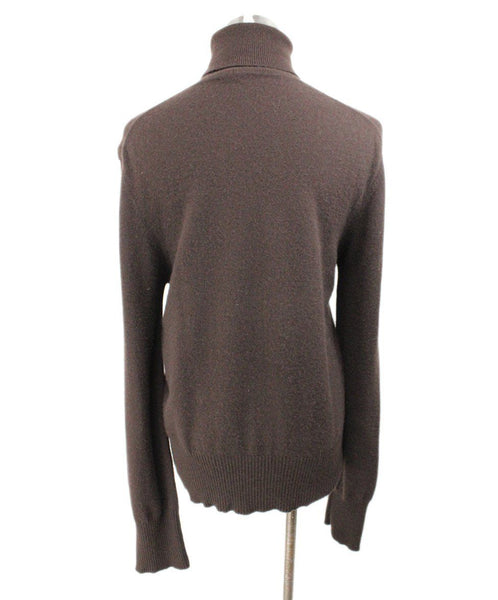 Donna Karan Brown Cashmere Turtleneck 3