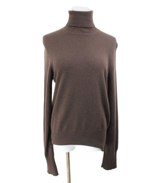 Donna Karan Brown Cashmere Turtleneck 1