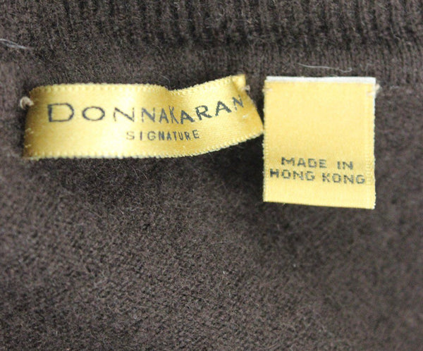 Donna Karan Brown Cashmere Turtleneck 4