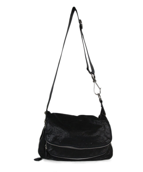 Donna Karan black leather crossbody 1