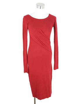 Donna Karan Red Viscose Dress 1