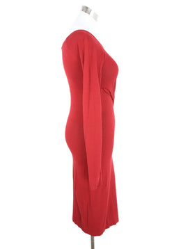 Donna Karan Red Viscose Dress 2