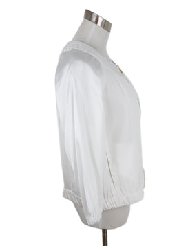 Donna Karan White Viscose Jacket 2