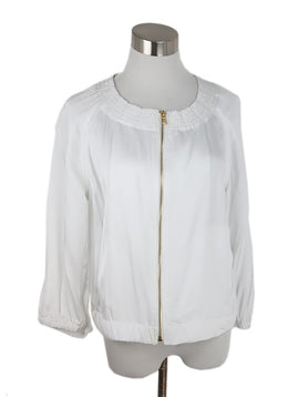 Donna Karan White Viscose Jacket 1