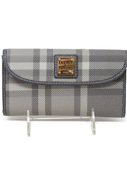 Dooney & Bourke Grey Plaid Canvas Wallet