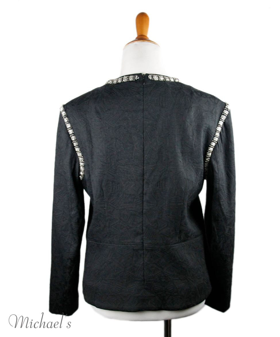 Dries Van Noten Black Wool Top Sz 6