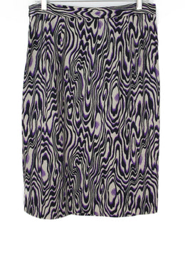 Dries Van Noten Purple Moire Print Skirt 2