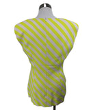 Dries Van Noten Yellow White Stripes Viscose Elastane Top 3