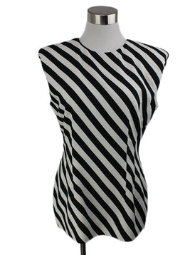 Dries Van Noten Black White Stripes Viscose Elastane Top 1