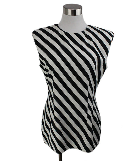 Equipment White Top with Blue stripes size xs