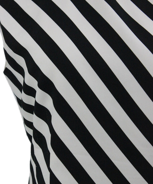 Dries Van Noten Black White Stripes Viscose Elastane Top 5