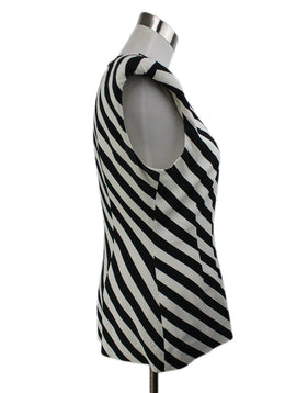 Dries Van Noten Black White Stripes Viscose Elastane Top 2