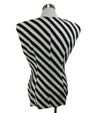 Dries Van Noten Black White Stripes Viscose Elastane Top 3