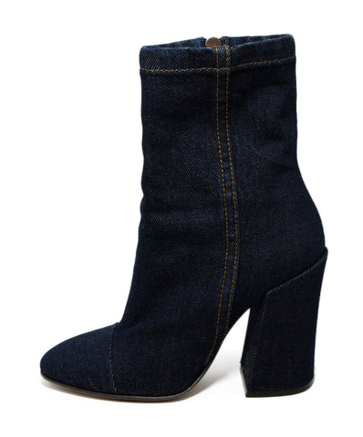 Dries Van Noten Blue Denim Booties 1