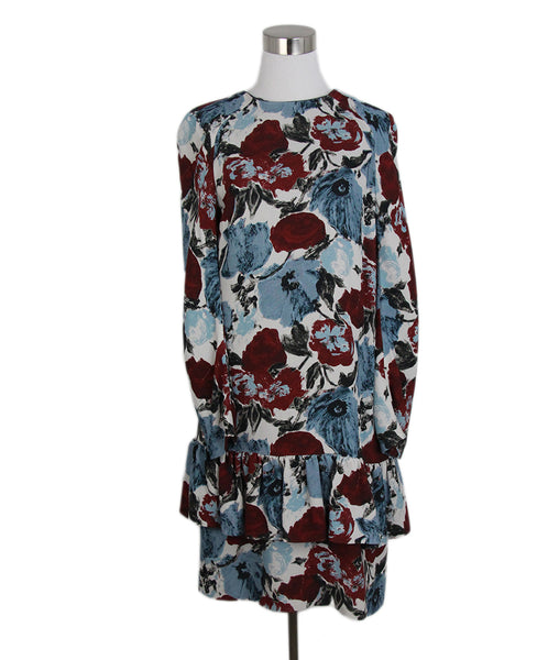Dries Van Noten blue white brown dress 1