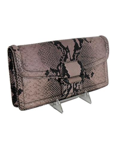 Dries Van Noten Black Lavender Python Clutch Handbag 1