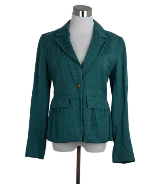 Dries Van Noten Green Wool Cotton Jacket 1