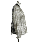 Dries Van Noten Metallic Silver Silk Polyester Jacket 2