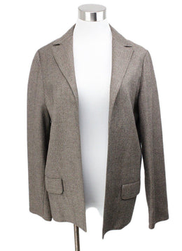 Dusan Brown Taupe Wool Jacket 1