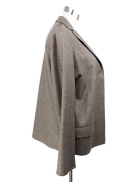 Dusan Brown Taupe Wool Jacket 2