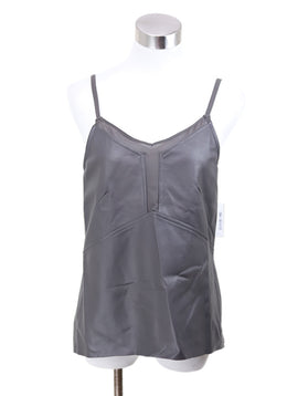 Ecru Taupe Leather Rayon Spandex Tank Top