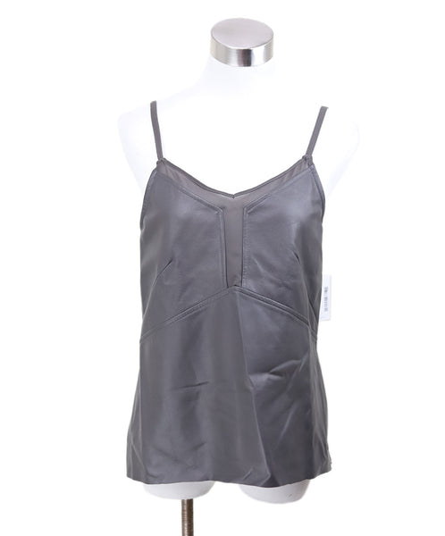 Ecru Taupe Leather Rayon Spandex Tank Top Sz S