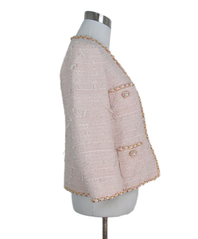 Edward Achour pink tweed pearl jacket 1