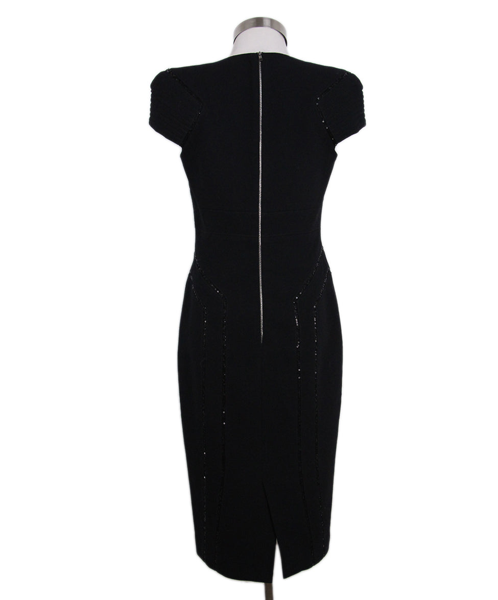 Elie Saab black wool sequin dress 3