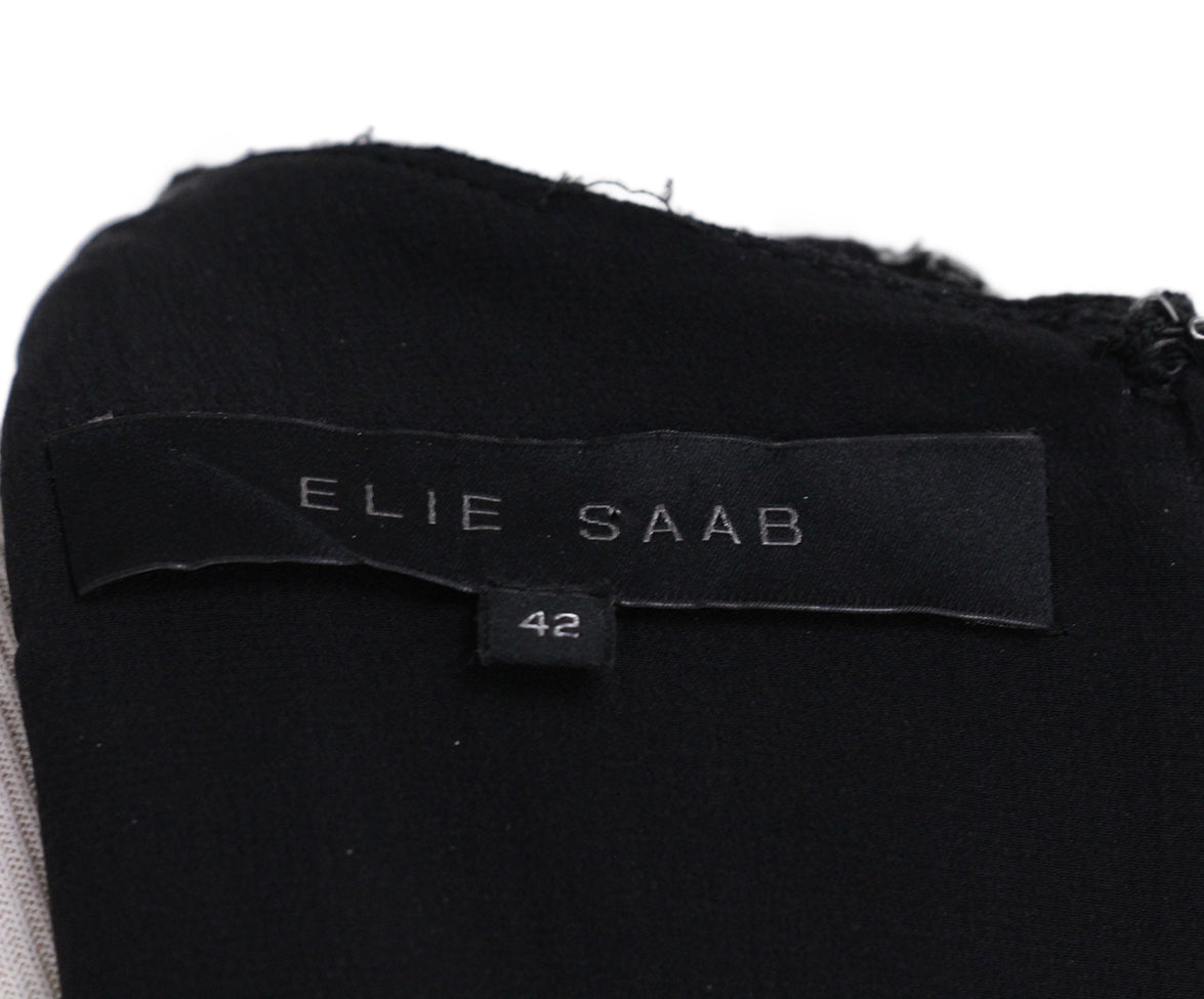 Elie Saab black wool sequin dress 4