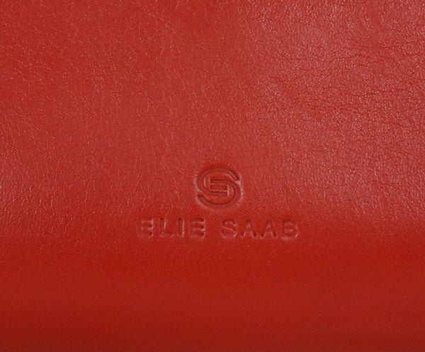 Elie Saab Orange Leather Crossbody Handbag 7
