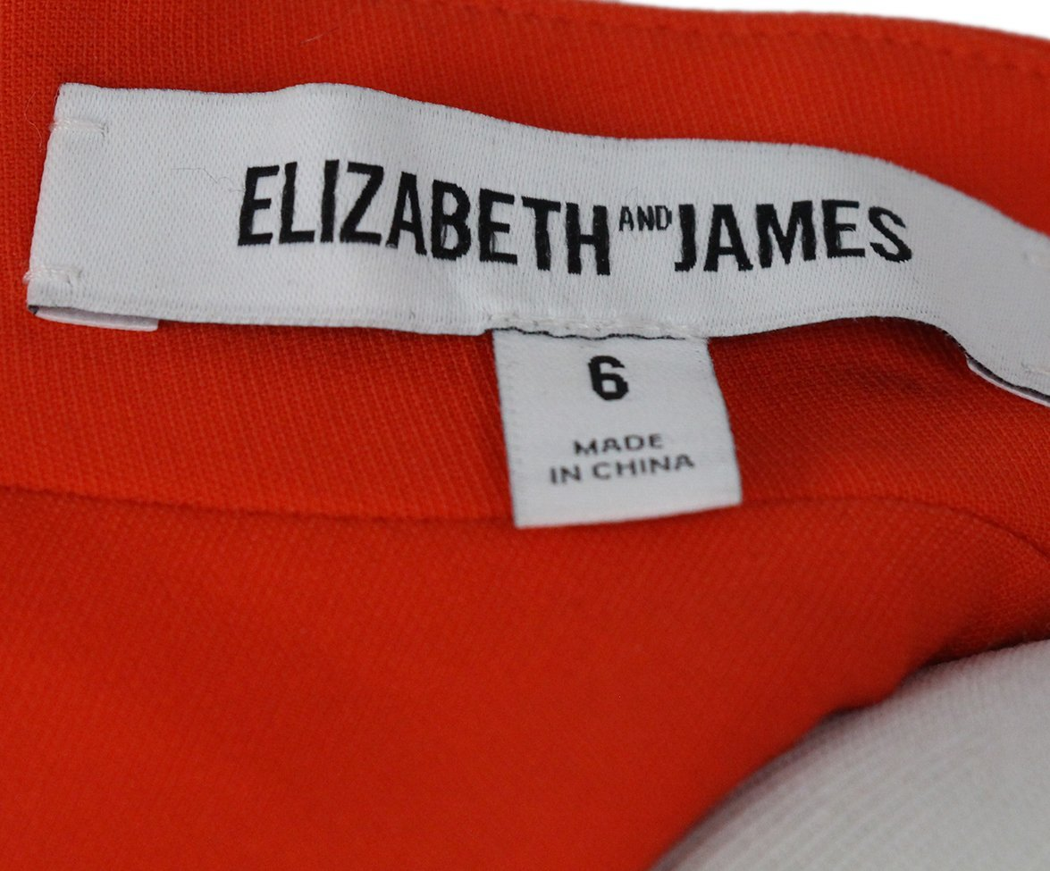 Elizabeth & James orange dress 4