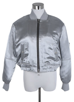 Elizabeth & James Metallic Silver Polyester Jacket 1