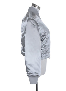 Elizabeth & James Metallic Silver Polyester Jacket 2