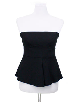 Elizabeth & James Black Bustier Top Sz 8