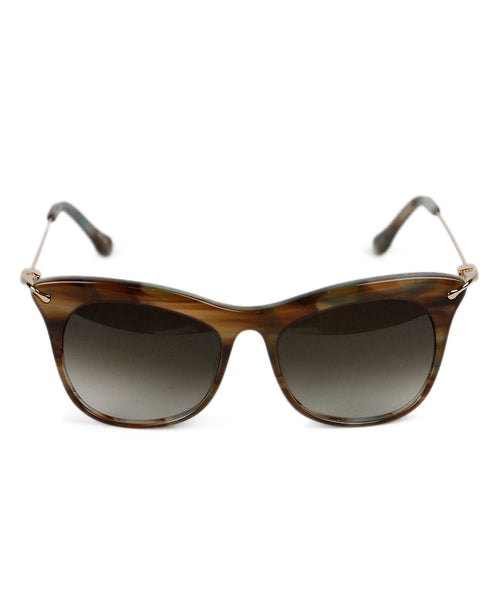 Elizabeth And James Brown Gold Plastic Sunglasses