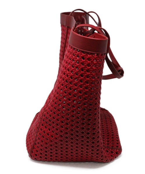 Elizabeth & James Red Plastic Leather Tote 1