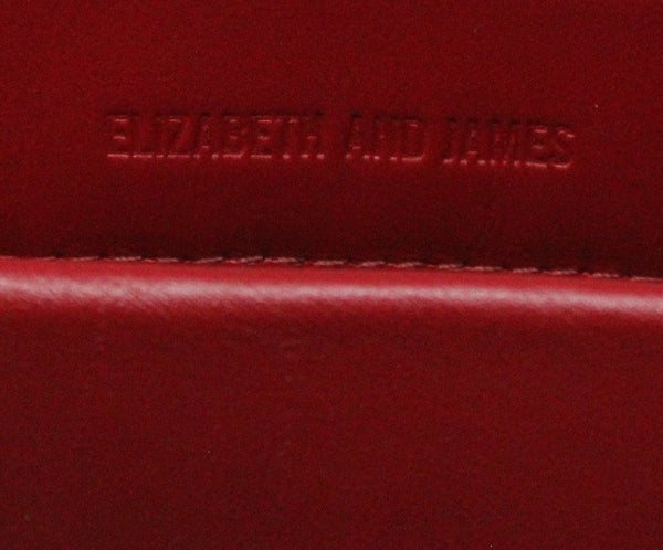 Elizabeth & James Red Plastic Leather Tote 5