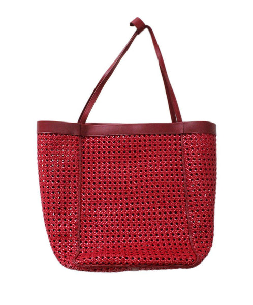 Elizabeth & James Red Plastic Leather Tote 2