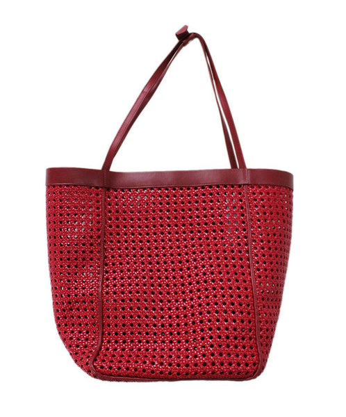 Elizabeth & James Red Plastic Leather Tote