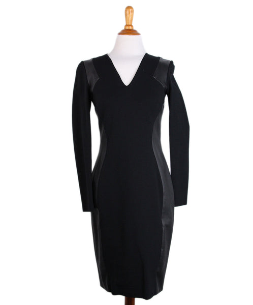 Emilio Pucci Black Leather Trim Dress 1