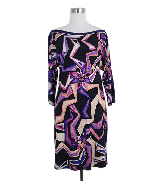 Emilio Pucci Black Pink Purple Dress 1