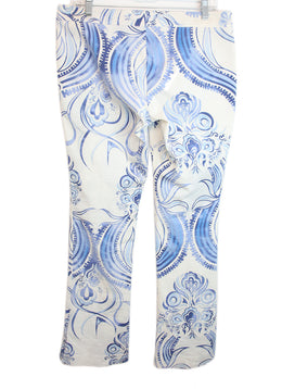 Emilio Pucci Blue White Print Cotton Pants 2