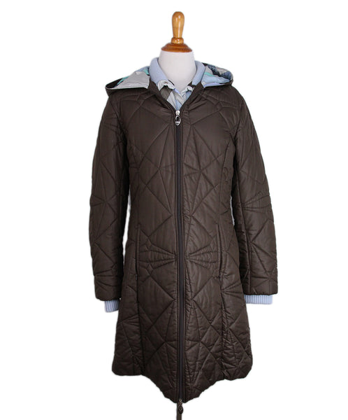 Emilio Pucci Brown Blue polyester coat 1