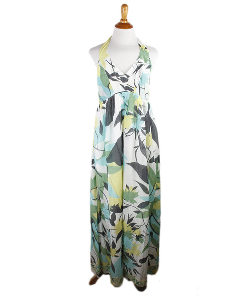 Emilio Pucci Green Print Silk Dress Sz 6